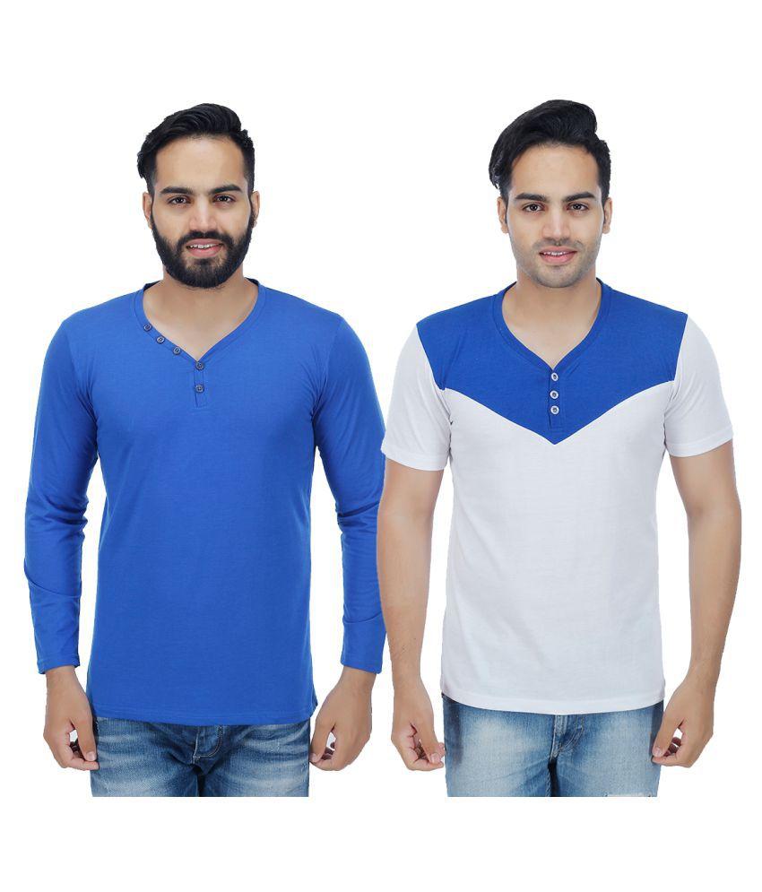 Sanvi Traders Multi Henley T-Shirt
