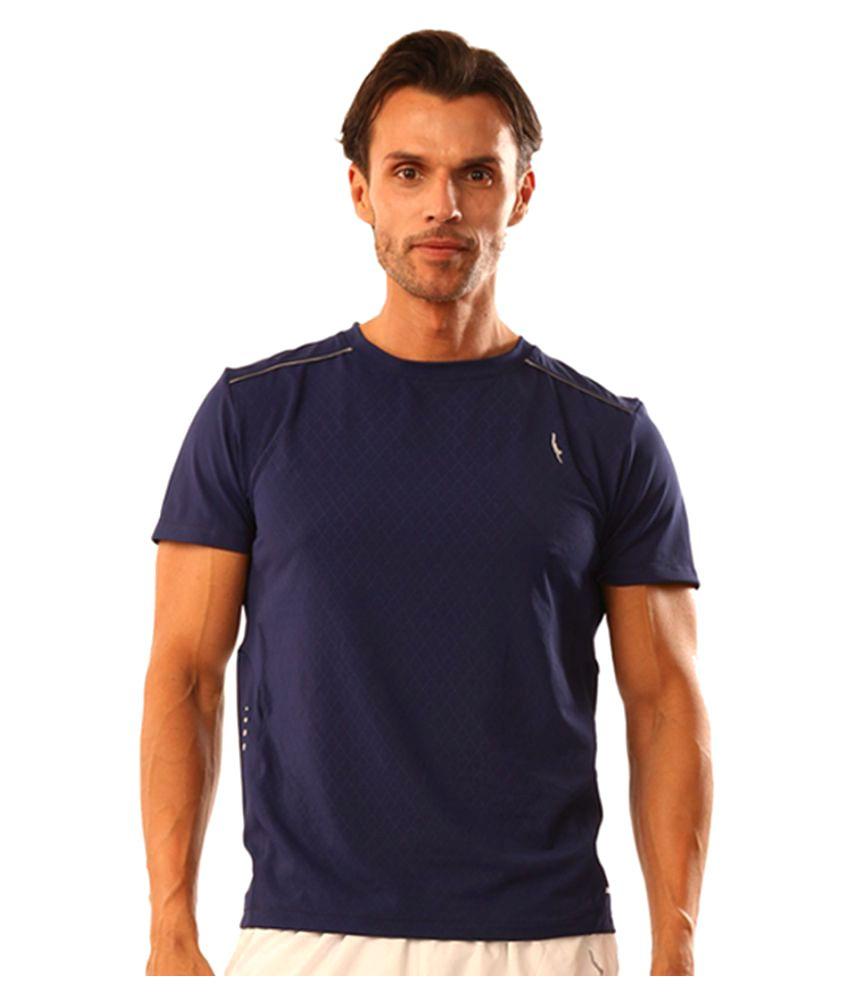 Dive Navy Polyester Lycra T Shirt