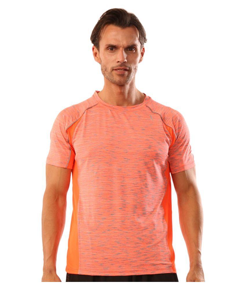 Dive Orange Polyester Lycra T-Shirt