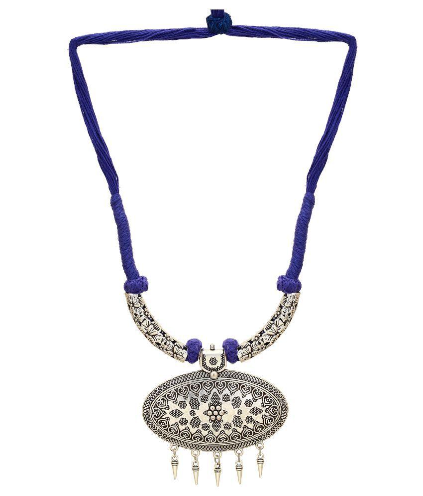 Hashtag Multicolour Brass Necklace