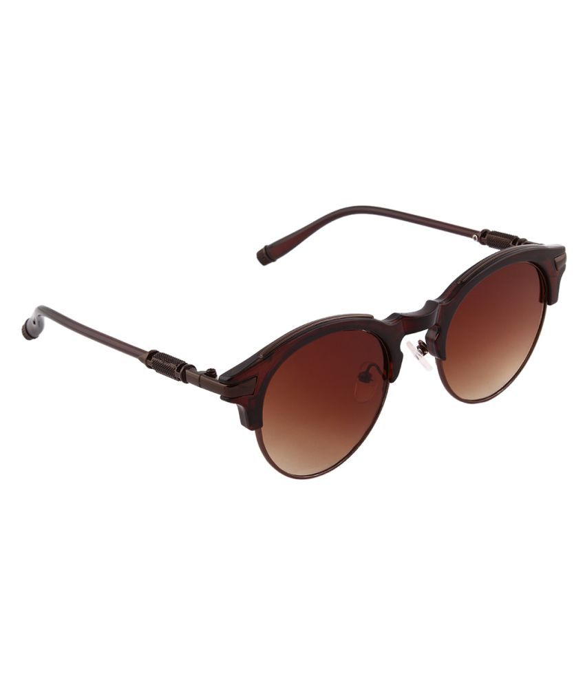 Olvin Brown Oval Sunglasses ( OL365-05 )