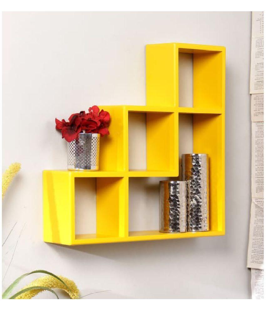 Onlineshoppee Floating Shelf/ Wall Shelf / Storage Shelf/ Decoration Shelf Yellow Single