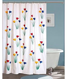 quick view yellow weaves single shower curtain white