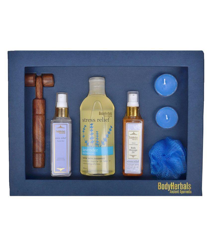 BodyHerbals Lavender Essentials Gift Set Aromatherapy Bath Kit Pack of 6