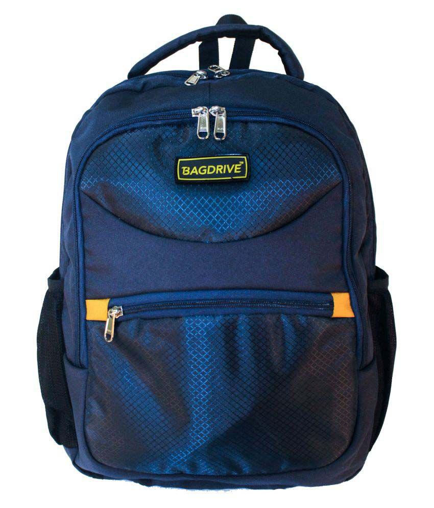 Bagdrive Blue Polyester College Bag