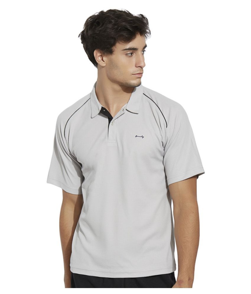 Bonaty Grey Polyester Polo T-Shirt Single Pack