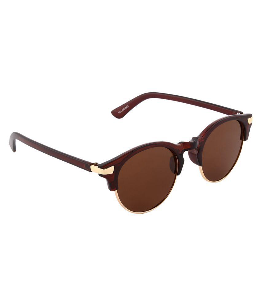Olvin Brown Oval Sunglasses