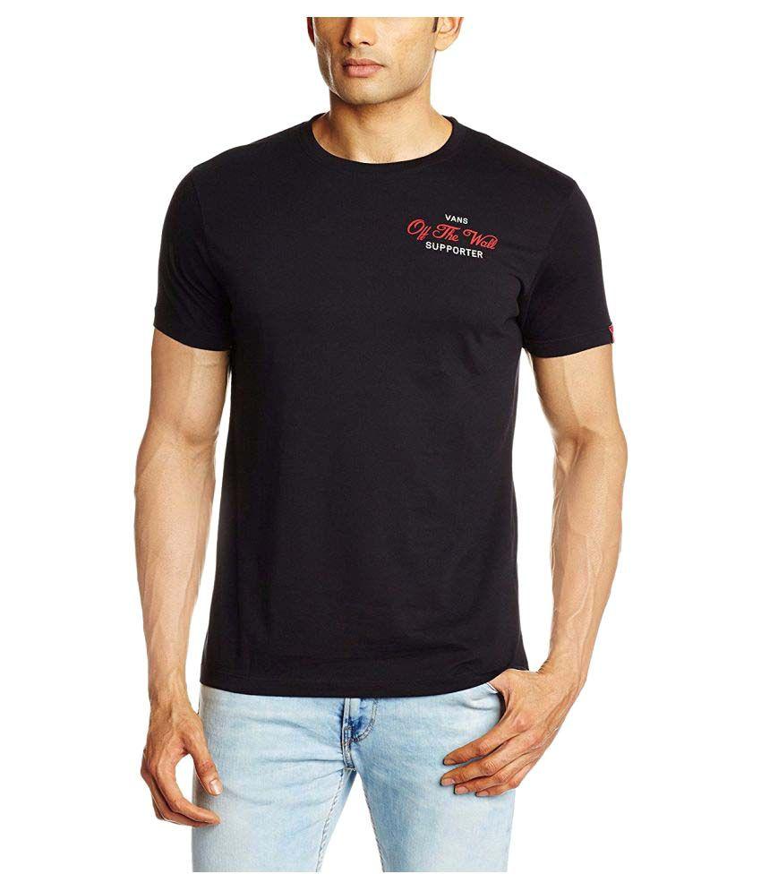 Vans Black Cotton T-Shirt Single Pack