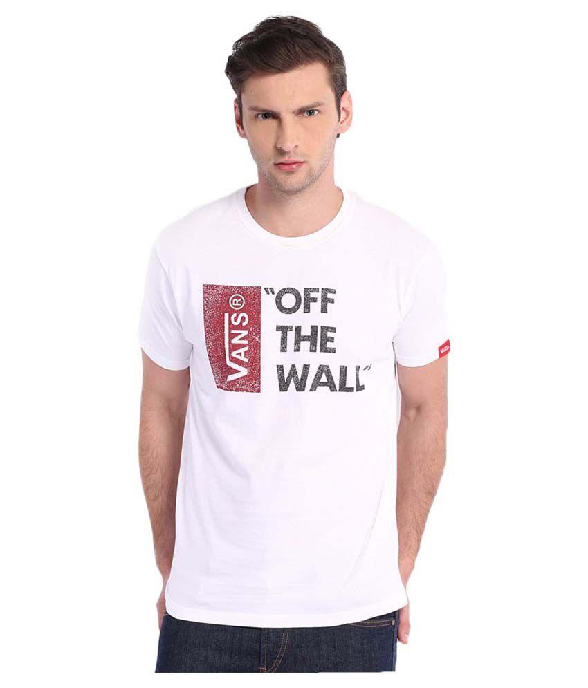 Vans White Cotton T-Shirt Single Pack