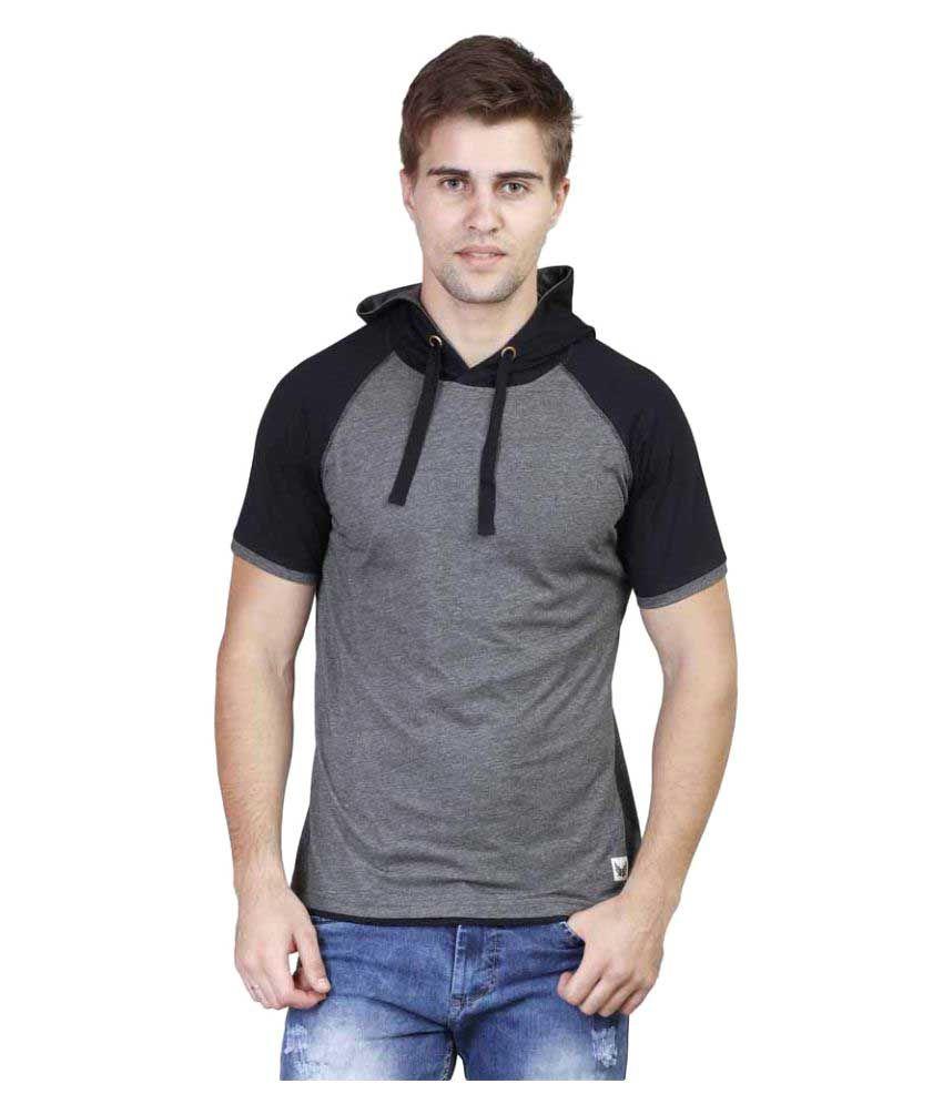 Righardi Grey Hooded T-Shirt