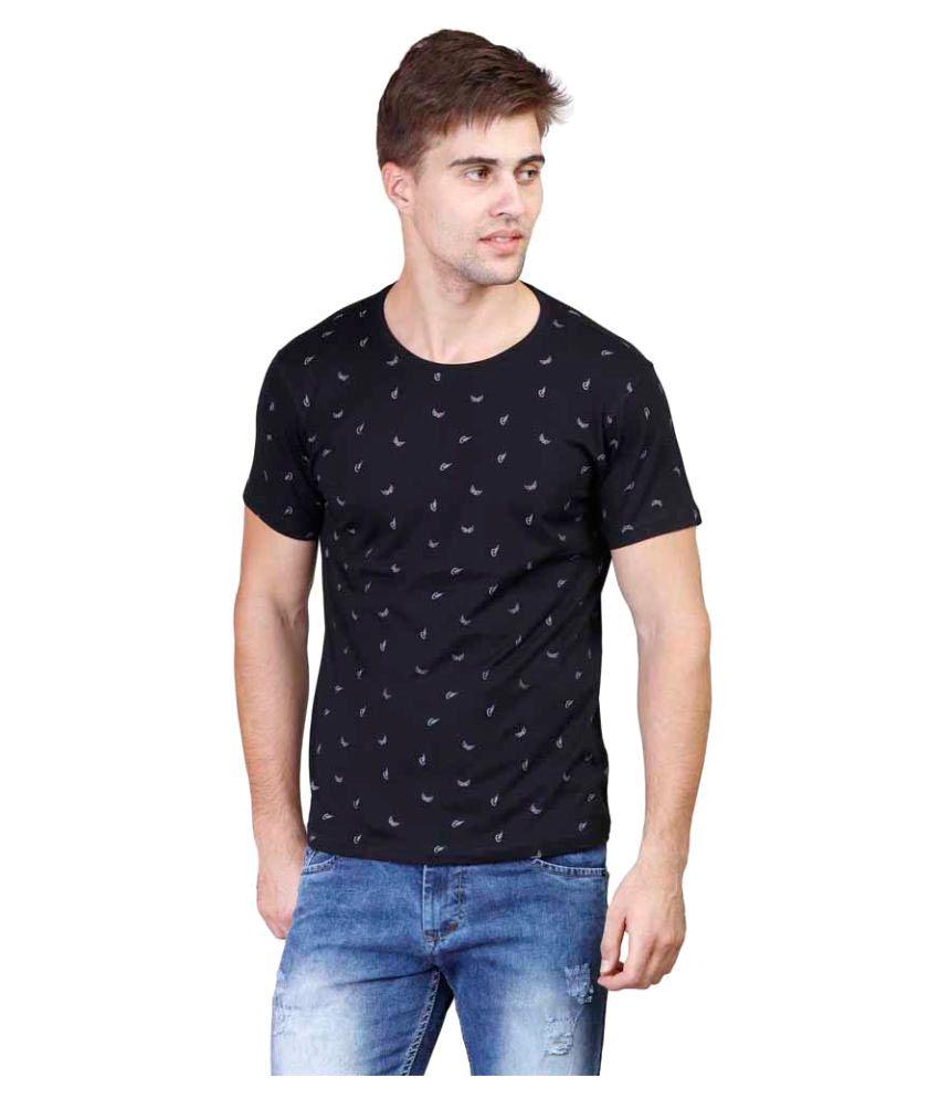 Righardi Black Round T-Shirt