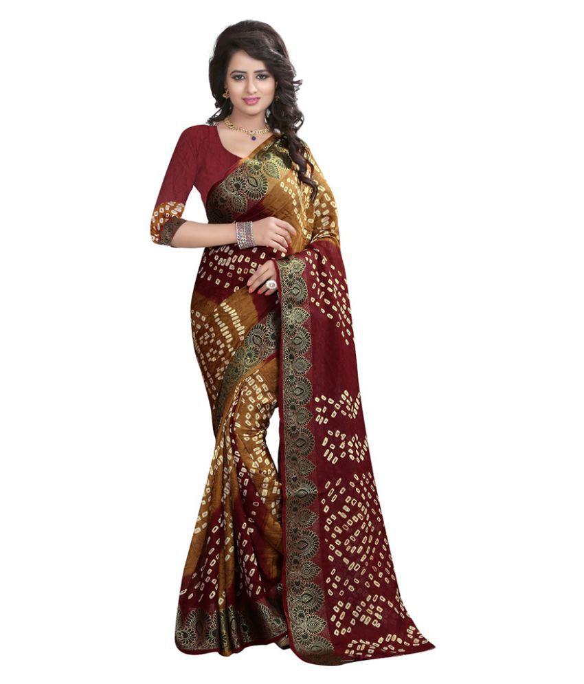 Saryu E Fabric Maroon Cotton Saree