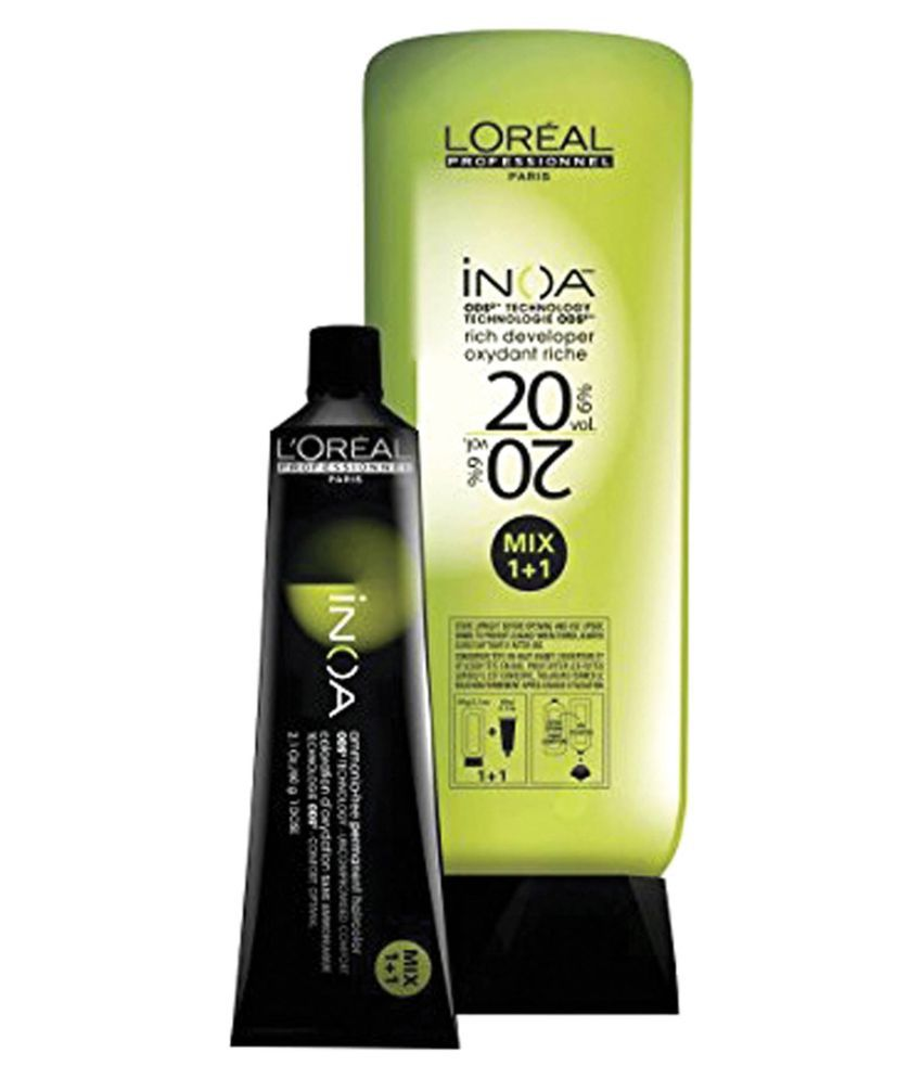 Loreal Inoa No 6 With 6 20vol Inoa Developer Permanent Hair Color