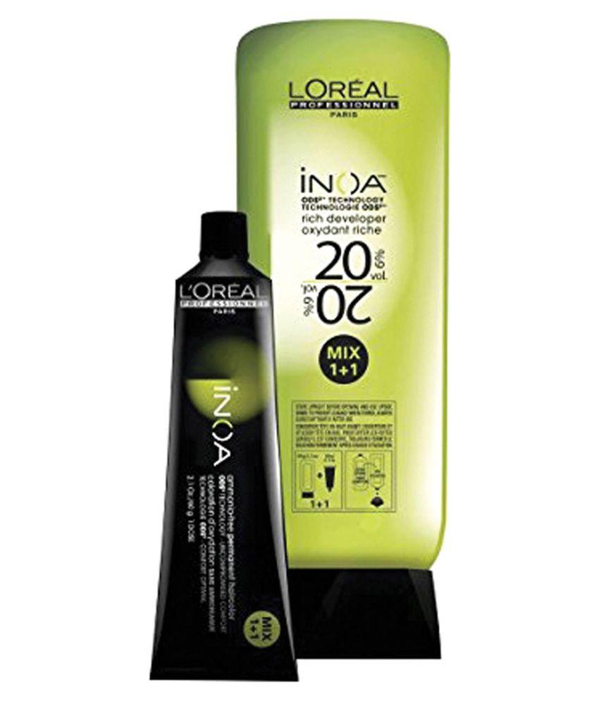 L\'Oreal INOA No. 7 With 6% 20Vol INOA Developer Permanent Hair Color ...