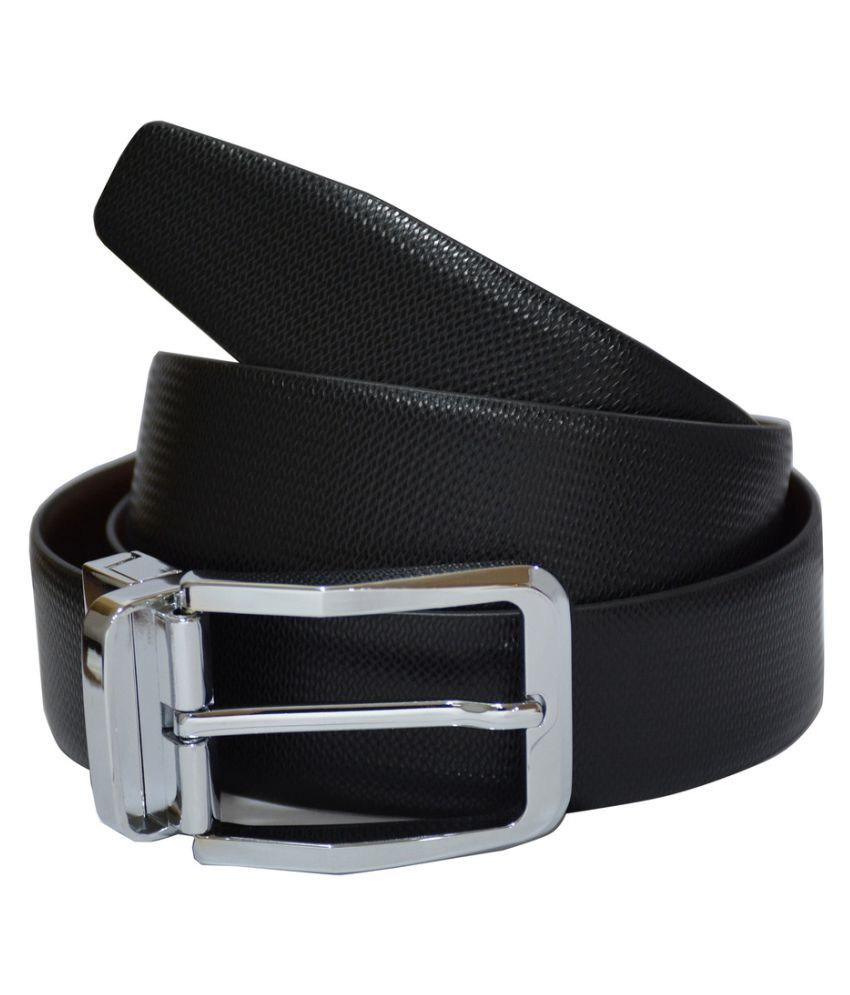 Rene Black Leather Formal Belts