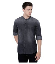 Highlander Grey Casuals Slim Fit Shirt