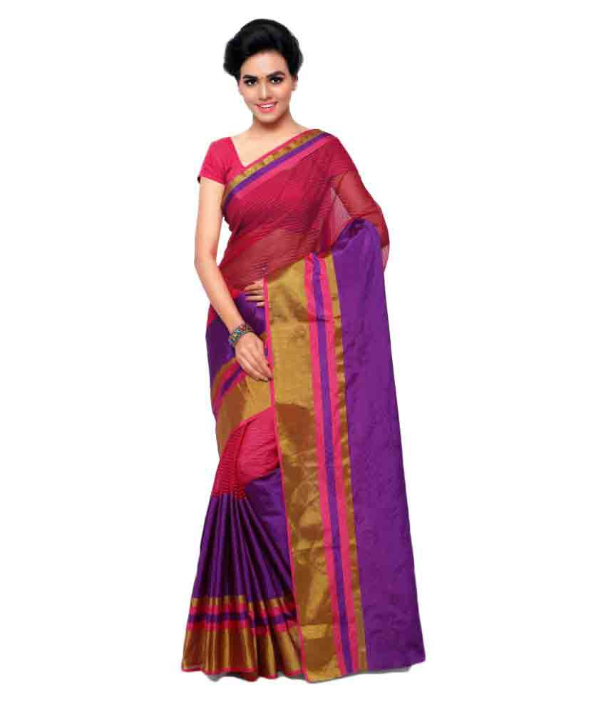 Aagaman Fashions Multicoloured Art Silk Saree