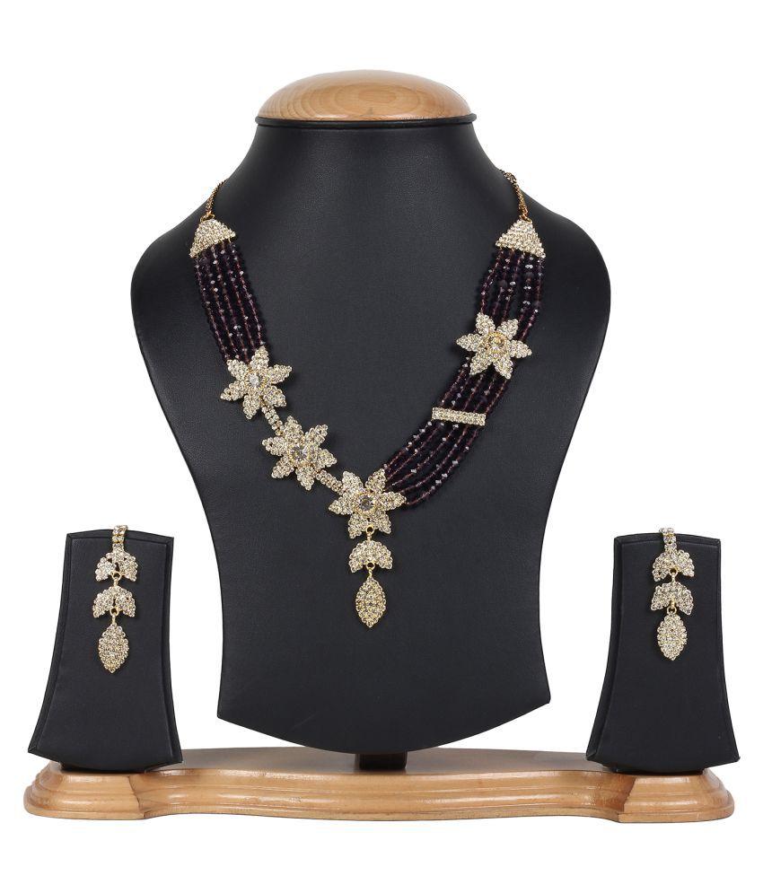 Jewels Gold Multicolor Necklace Set