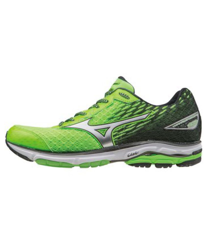 quality design bdc40 441a0 Mizuno Wave Rider 19 Green Running Shoes - Buy Mizuno Wave Rider 19 Green  Running Shoes Online at Best Prices in India on Snapdeal