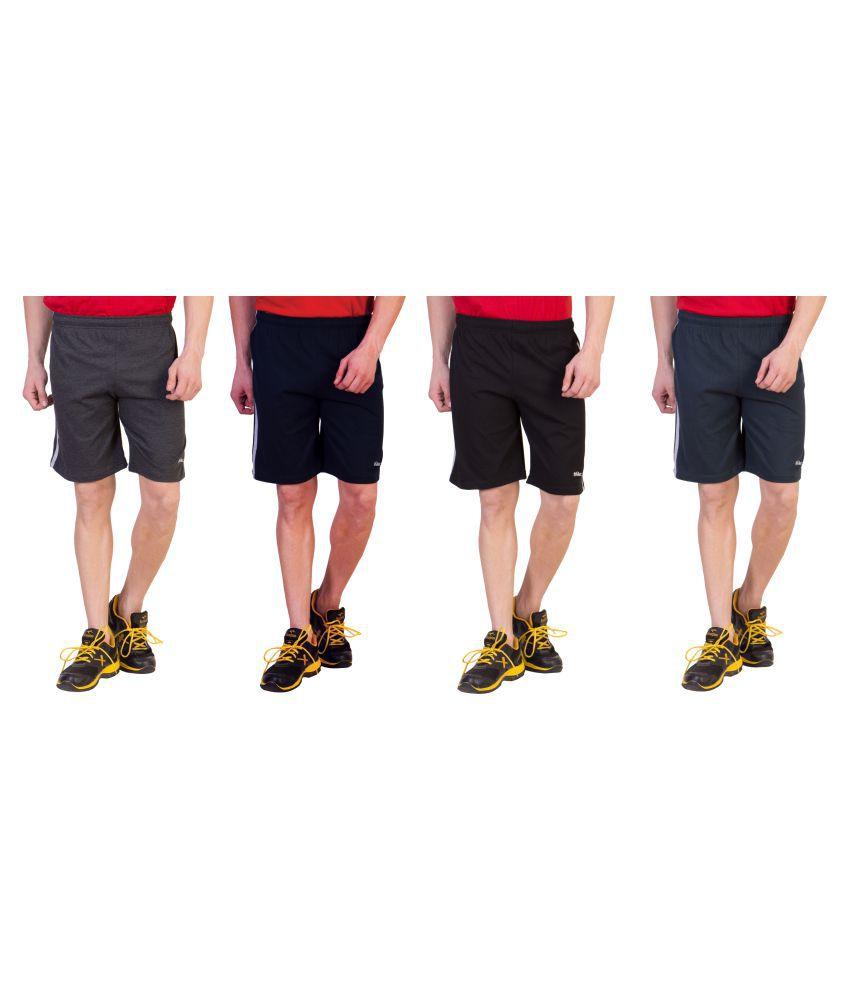 Zeki Multi Shorts Combo Of 4