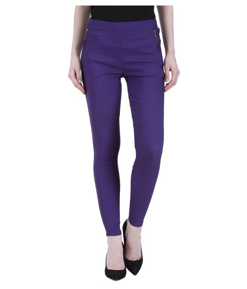 97d2018d799cfa Buy Kritika World Cotton Lycra Jeggings Online at Best Prices in India -  Snapdeal