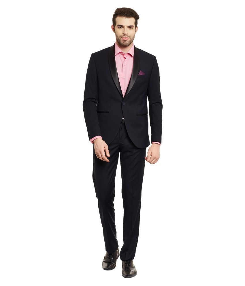 Envoy Navy Plain Casual Suit