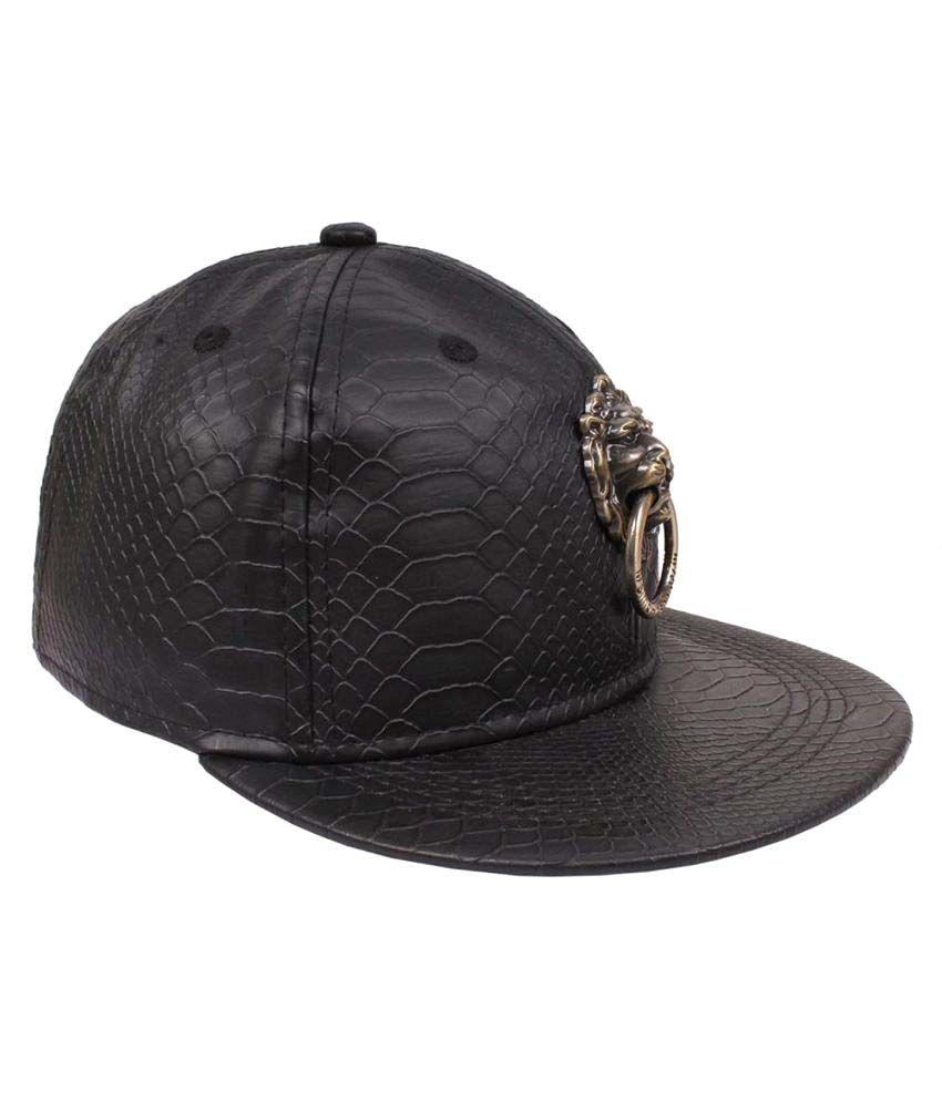 50d2e126ad3 Kylon Black Plain Cashmere Caps - Buy Online   Rs.