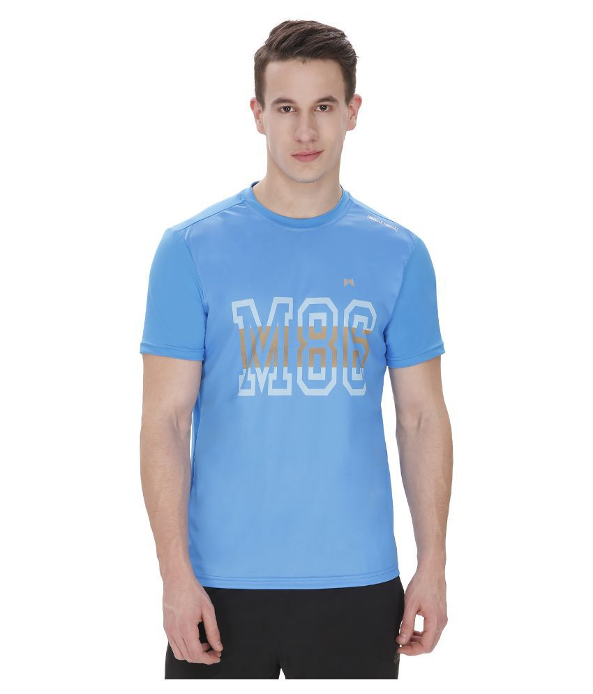 Muscle Torque Blue Round T-Shirt