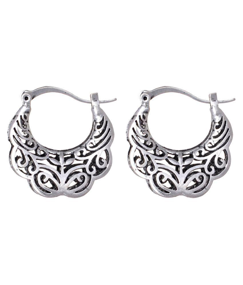 HB Arsya Jewellery Oxidised Alloy Chandeliers Earring