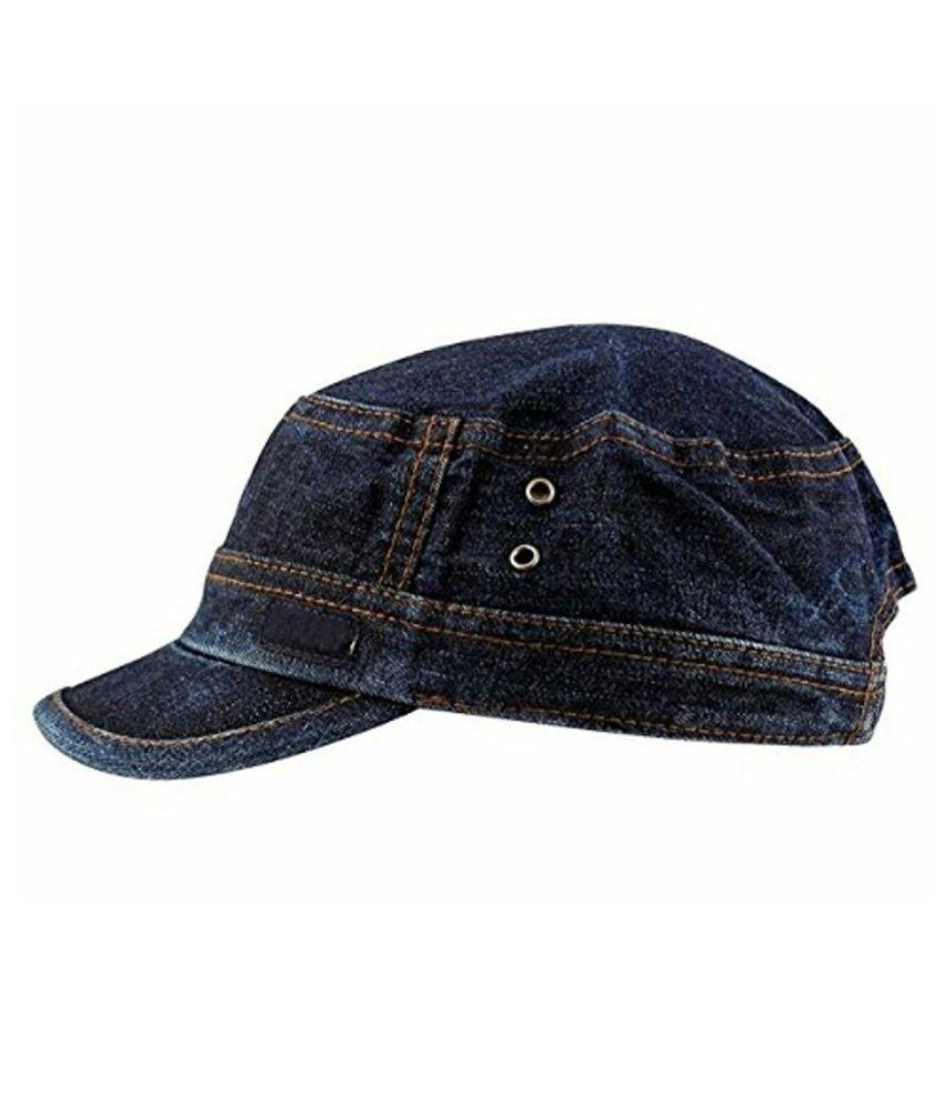 5f1a9f792c0 Kylon Blue Plain Cotton Caps Kylon Blue Plain Cotton Caps