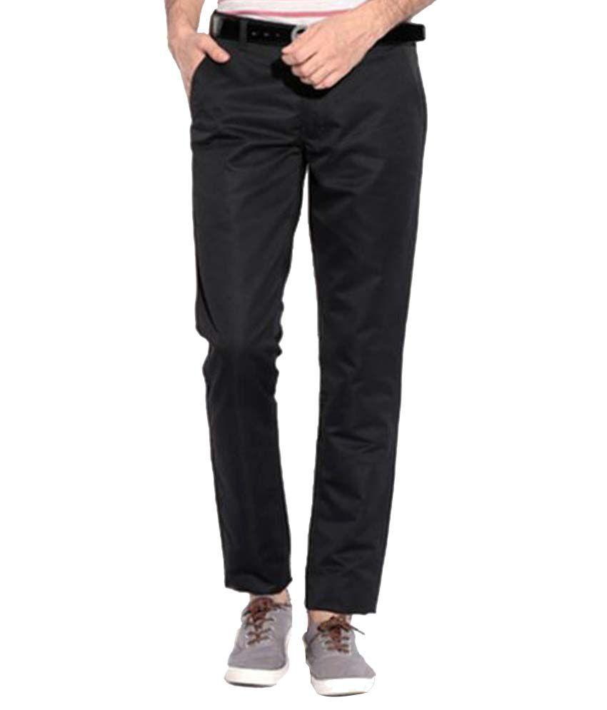 Lofty Black Slim Pleated Trousers