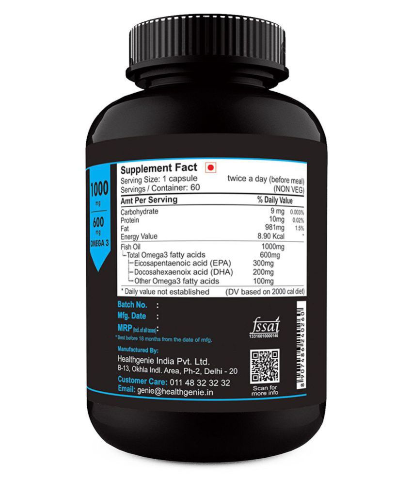 Sinew Nutrition Omega 3 Double Strength Fish Oil 1000mg..