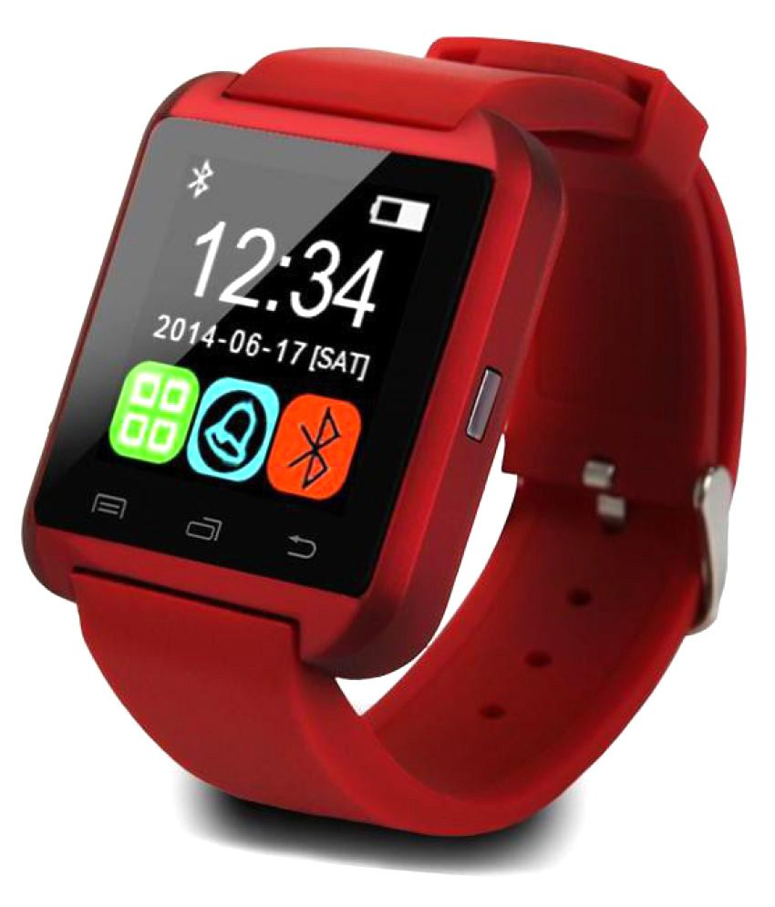5c6b5045b IBS U8 Smart Watches Red - Wearable   Smartwatches Online at Low Prices