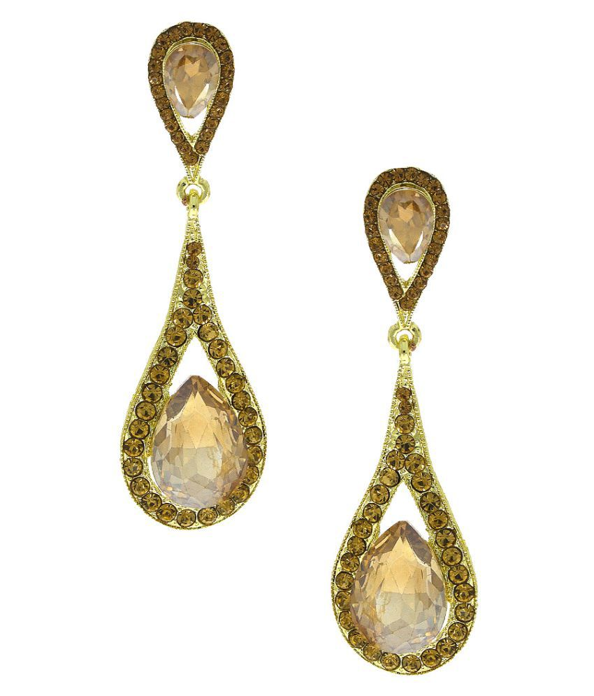 Anuradha Art Golden Wonderful Classy Party Wear Fancy Long Earring For Women/Girls