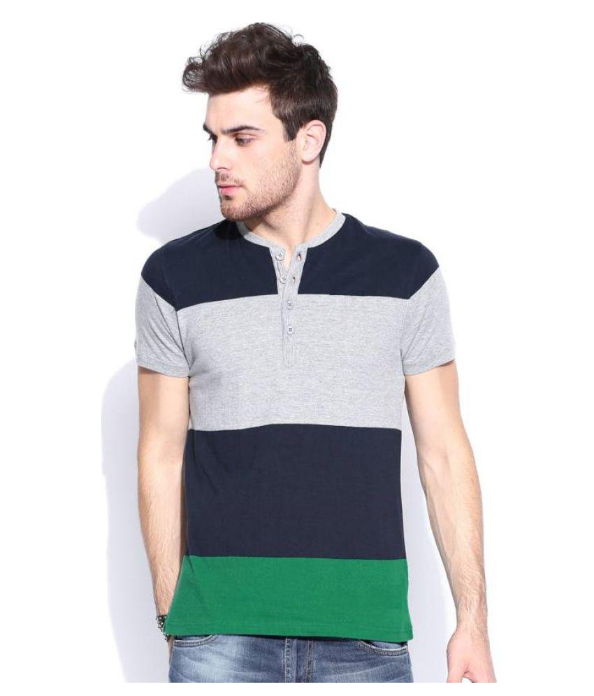 Urbano Fashion Multi Henley T-Shirt