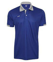 Nivia Blue Polyester Polo T-shirt