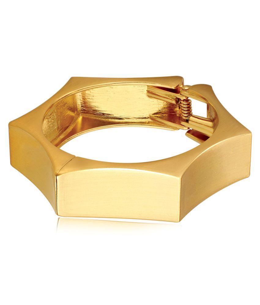 Spargz Party Wear Golden Brass Bracelet