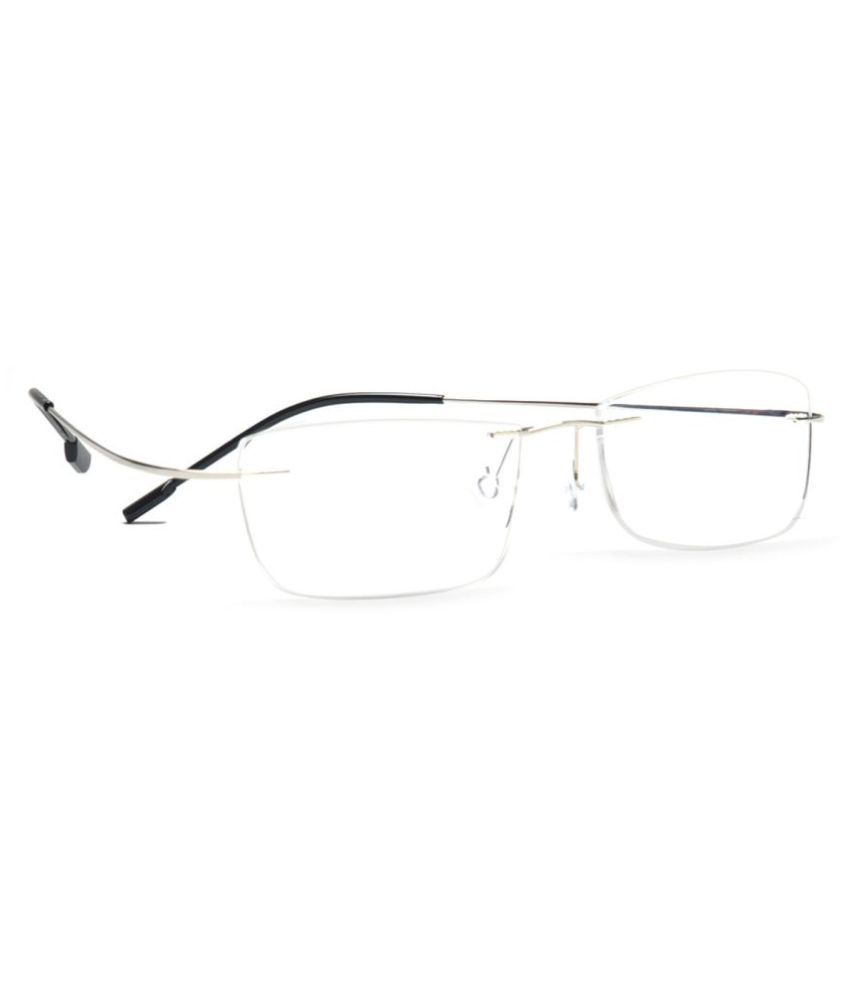 76b01277f70 MagJons Silver Rectangle Spectacle Frame Flexible lightweight - Buy MagJons  Silver Rectangle Spectacle Frame Flexible lightweight Online at Low Price -  ...