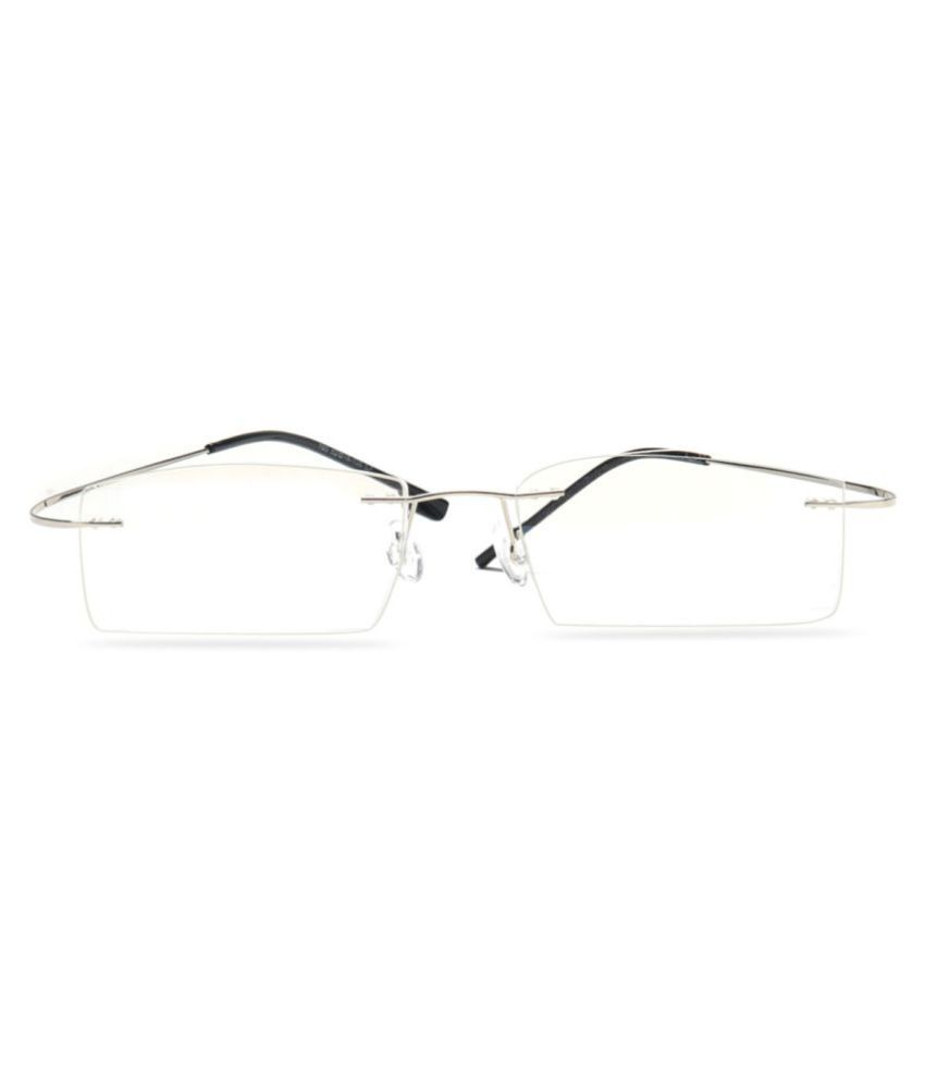 67f9f05374a MagJons Silver Rectangle Spectacle Frame Flexible lightweight - Buy ...