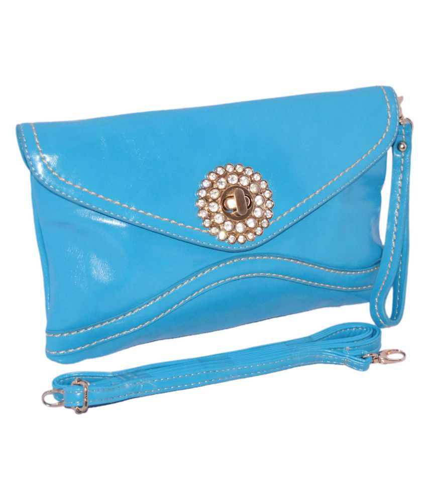 Quick Fashion Blue P.U. Sling Bag
