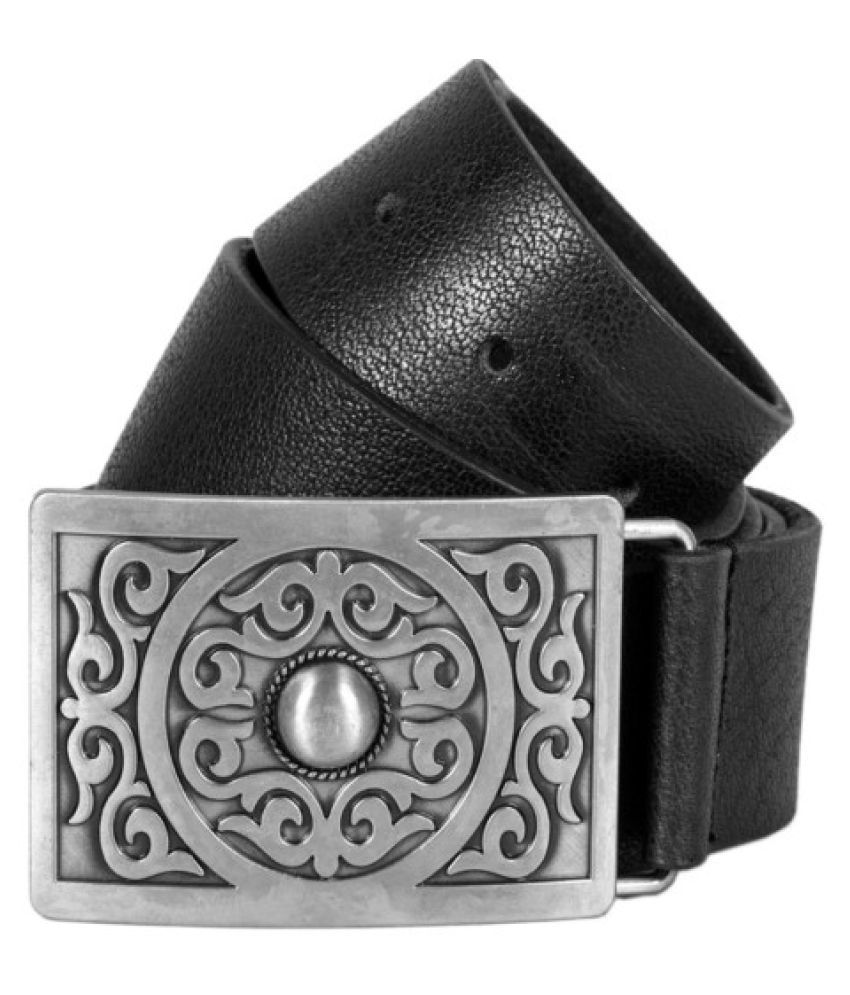 Creative Crafts Black Leather Casual Belts