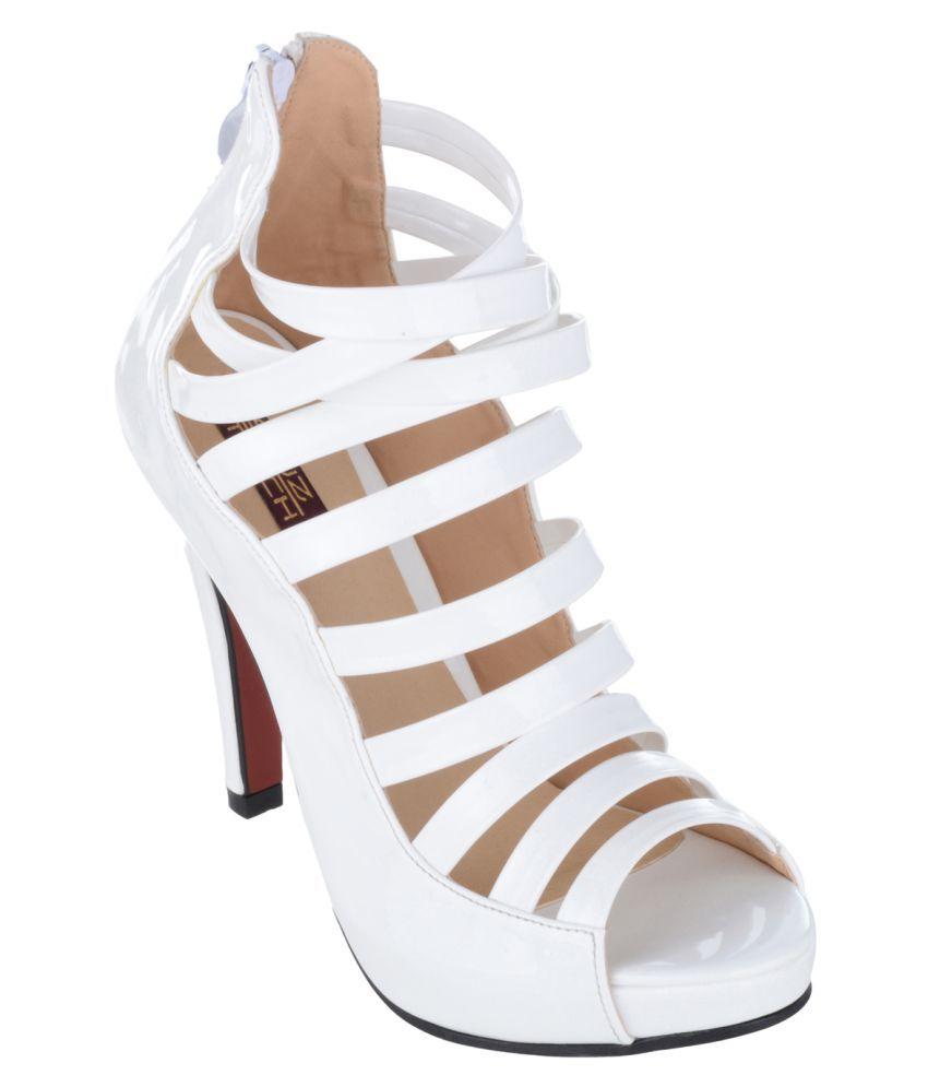 Shuz Touch White Stiletto Heels
