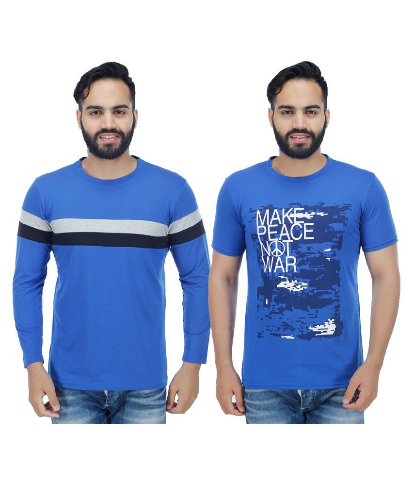 Candy House Blue Round T-Shirt Pack of 2