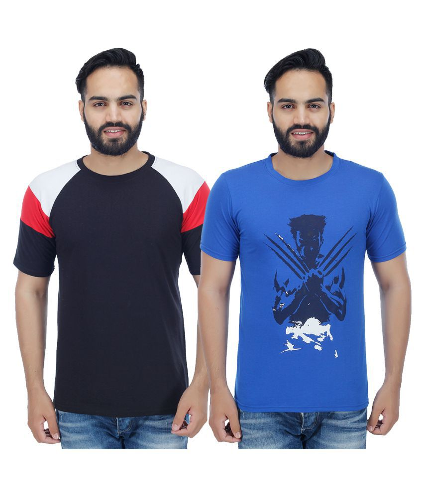 Rakshita's Collection Multi Round T-Shirt Pack of 2