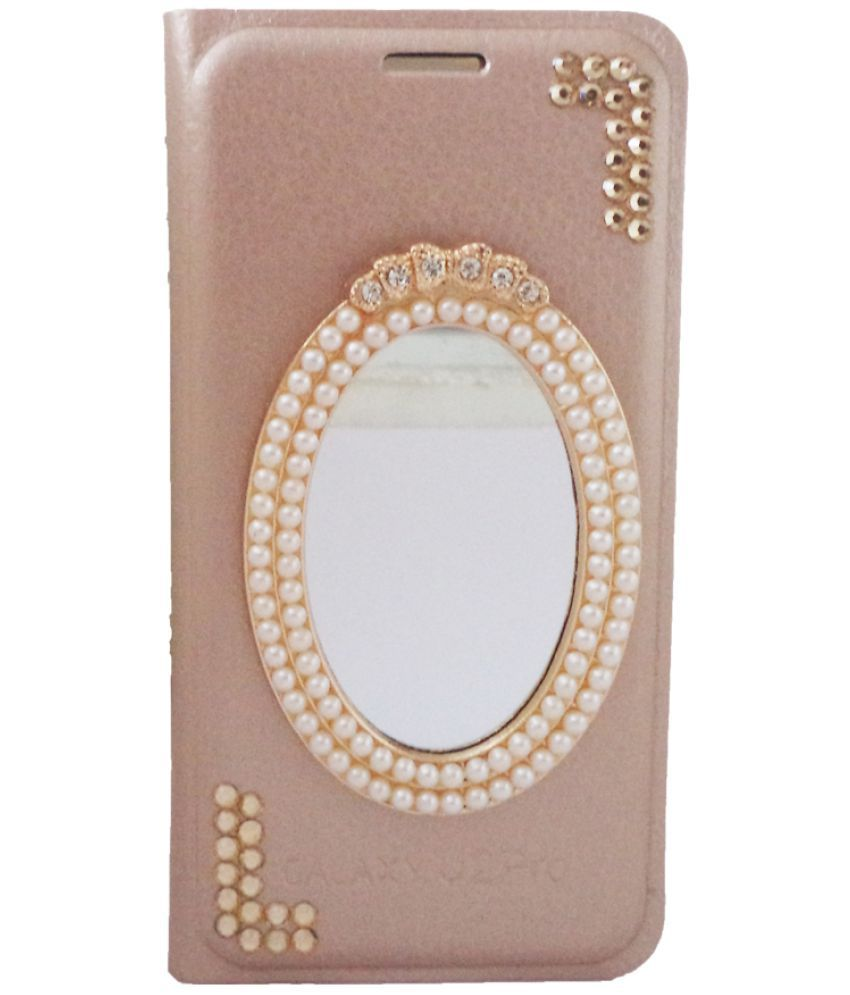 Samsung Galaxy A5 Flip Cover by Purple - Golden