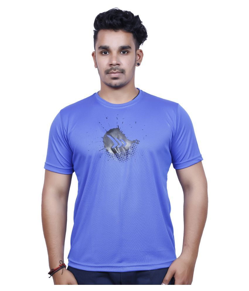 Mayor Blue Polyester T Shirt