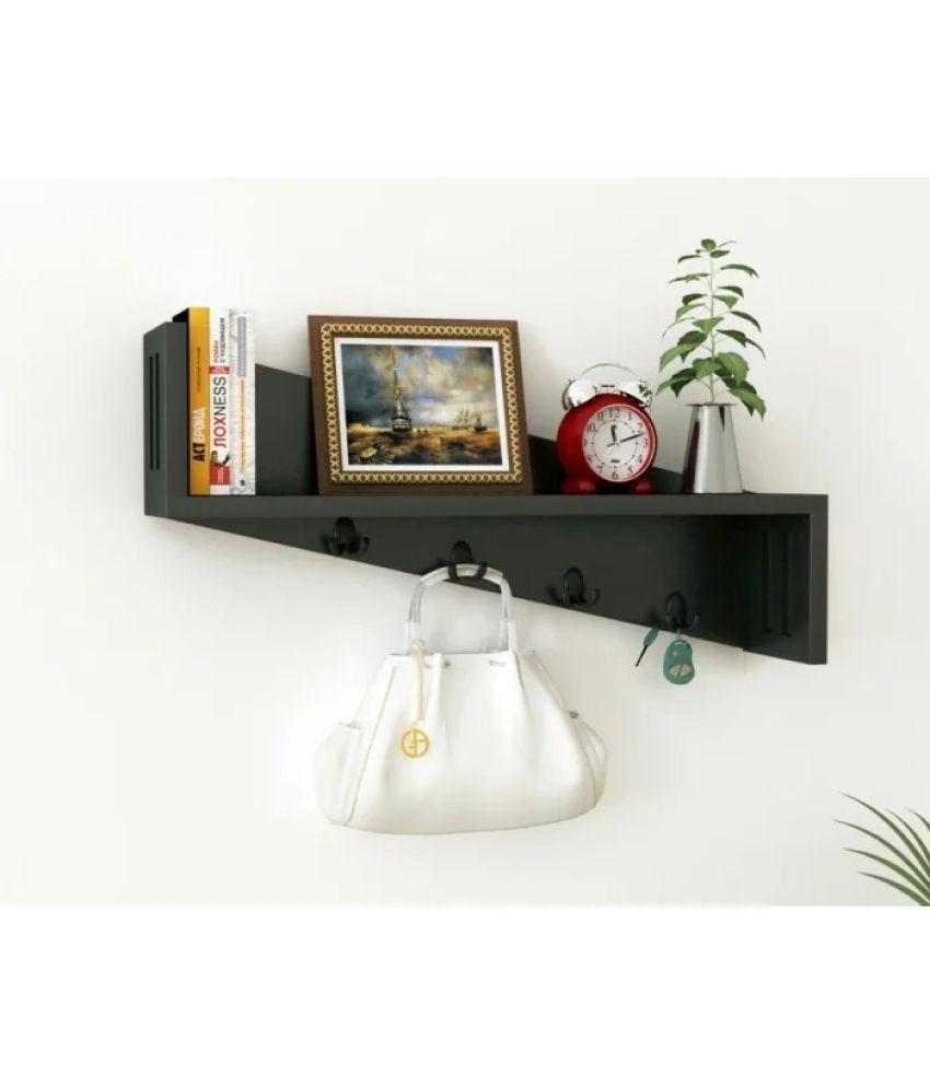 Onlineshoppee Floating Shelf/ Wall Shelf / Storage Shelf/ Decoration Shelf Black Single