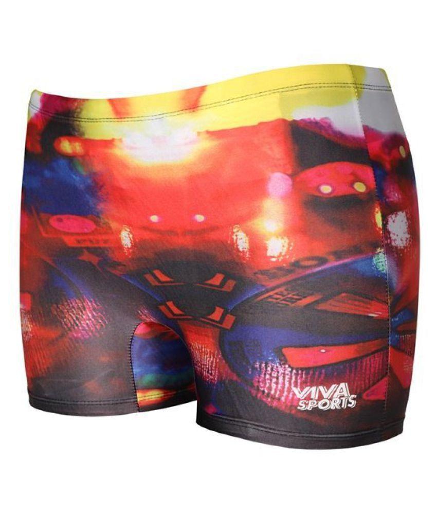 Viva Sports VSTK-005-A Kid's Swimming Trunks (Multicolor)/ Swimming Costume