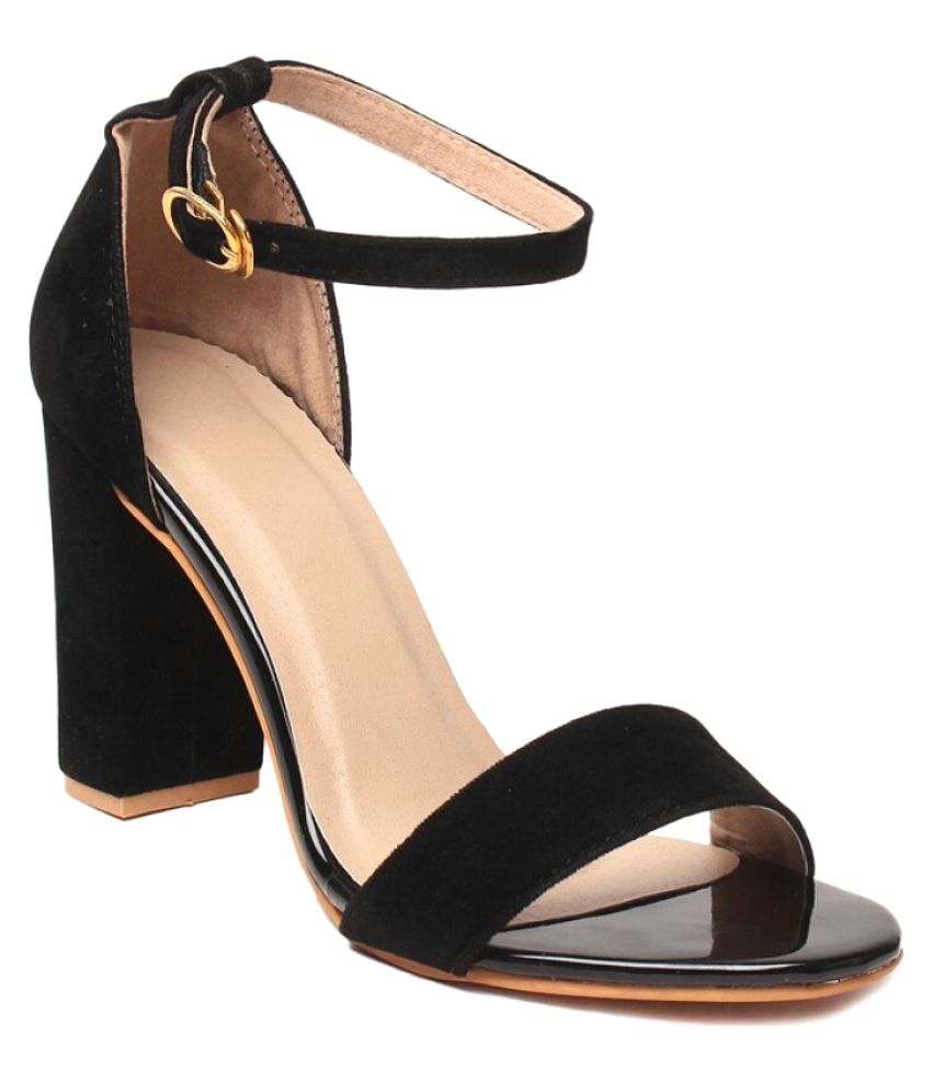 d5bed59d7e4 Bora Bora Black Block Heels Price in India- Buy Bora Bora Black Block Heels  Online at Snapdeal
