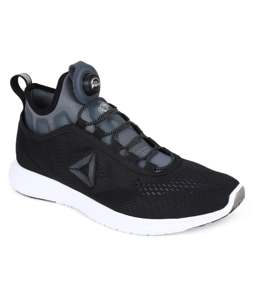 8335c240a09282 Reebok Pump Plus Tech Black Running Shoes - Buy Reebok Pump Plus Tech Black  Running Shoes Online at Best Prices in India on Snapdeal